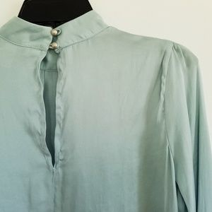 Ice blue silky blouse